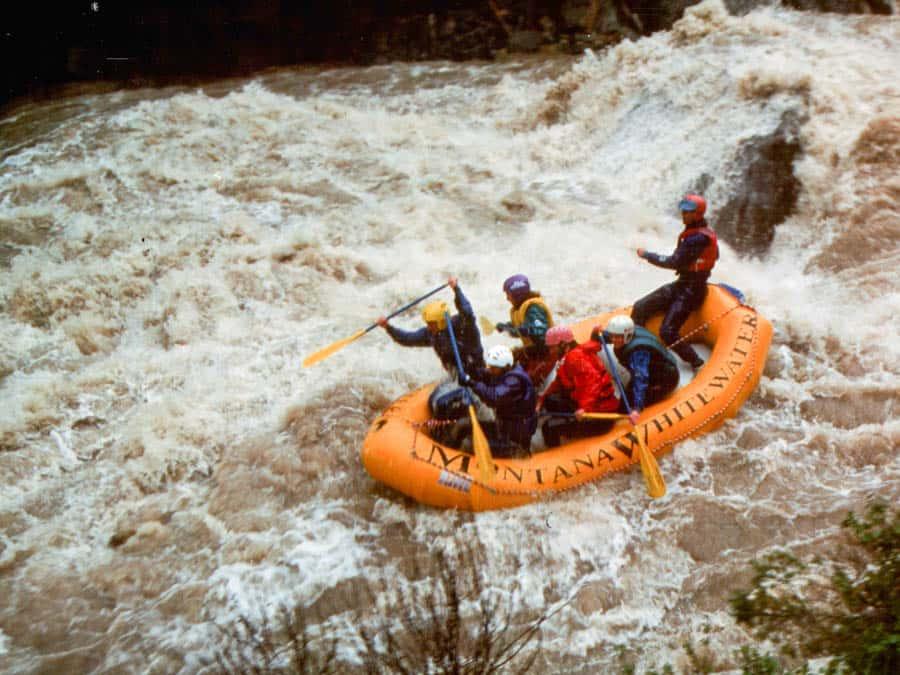 vintage-orange-raft
