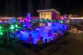 bozeman hot springs night time